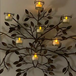 ZGallery Other - Metal Candle leaf holder wall